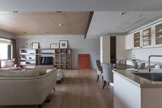 现代台式公寓客餐厅装修效果图