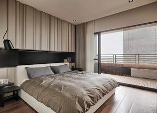 现代台式公寓卧室装修效果图