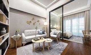 50㎡复式两居客厅装修效果图
