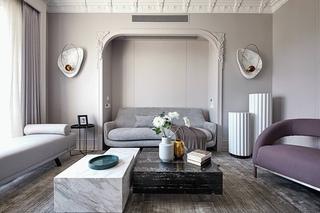 240平复式公寓客厅装修效果图