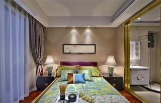 150㎡新中式卧室装修效果图