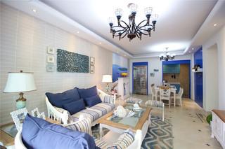 地中海风三居室装修效果图