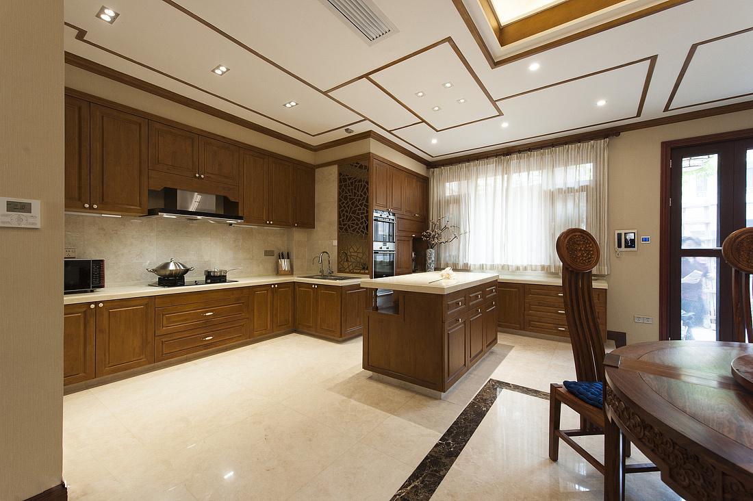 中式风格别墅厨房装修效果图