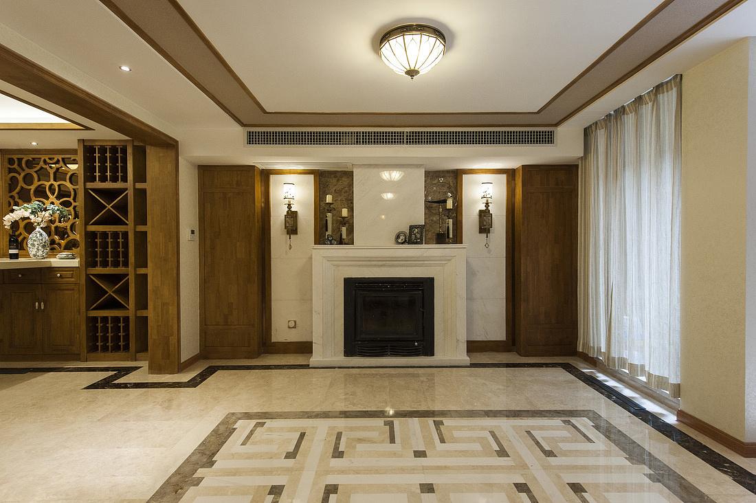 中式風格別墅門廳裝修效果圖