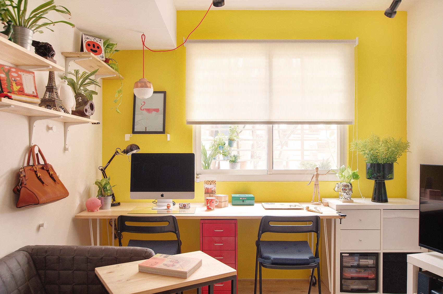 33平米小户型装修书桌设计图