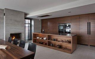 现代风别墅厨房装修效果图
