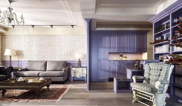 浪漫紫色如此轻易的驾驭,现代北欧风格装修 散发着薰衣草的味道