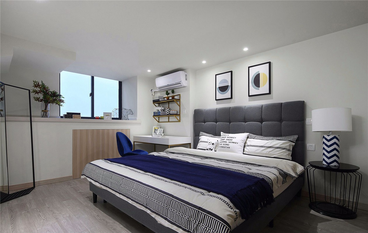 80㎡现代风卧室装修效果图
