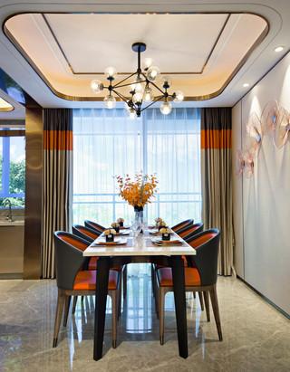 现代轻奢四居餐厅装修效果图