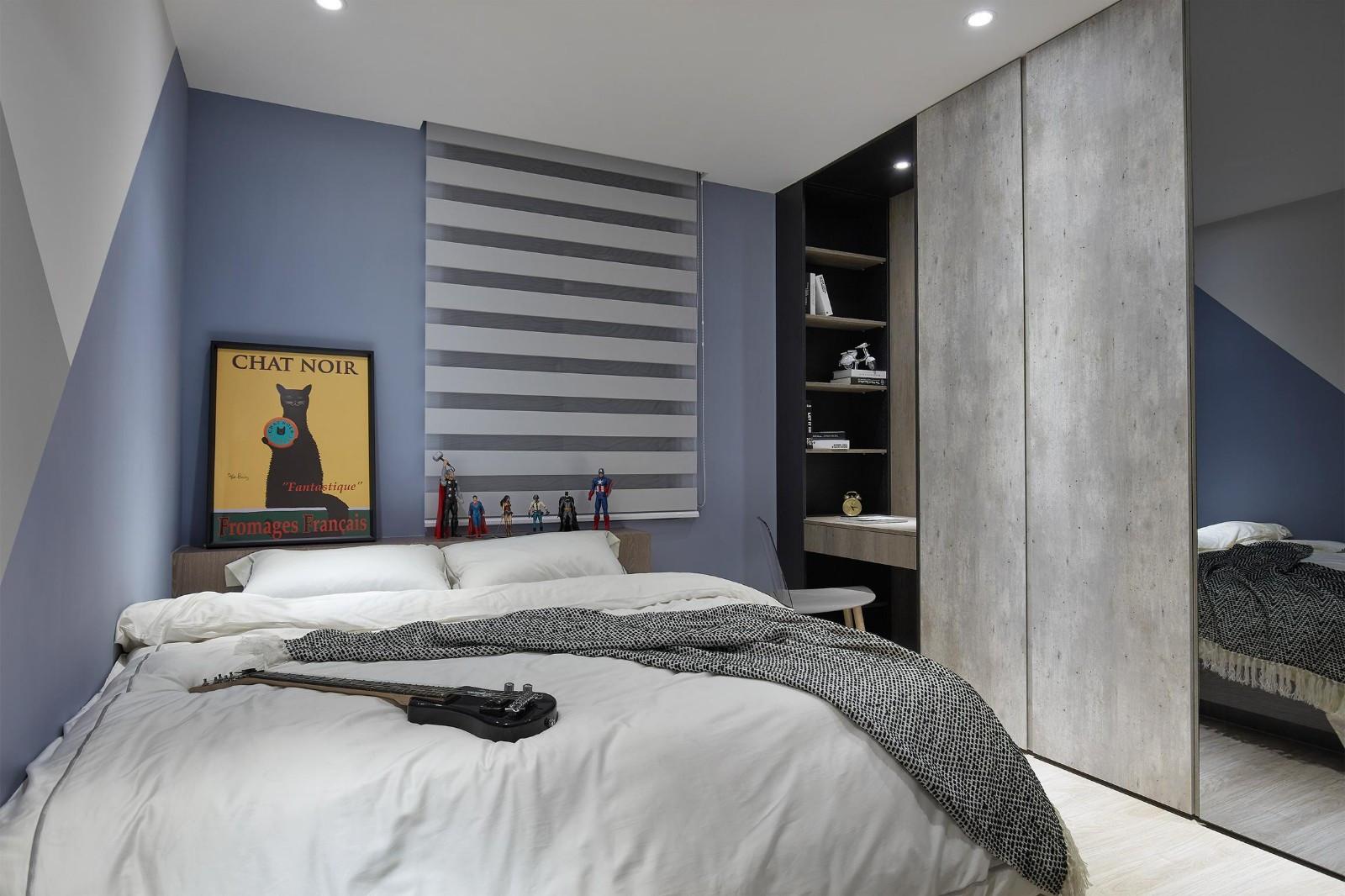89㎡现代风卧室装修效果图