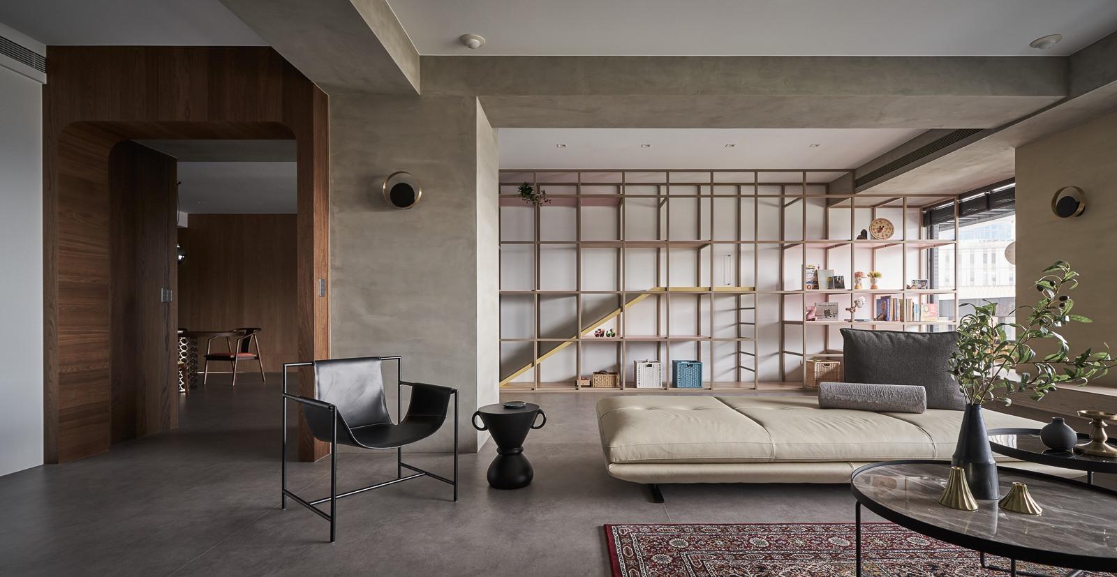 混搭风两居室客厅装修效果图