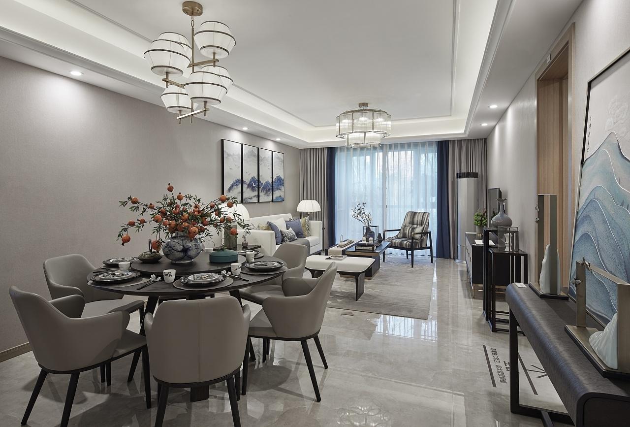 新中式三居室餐厅装修效果图