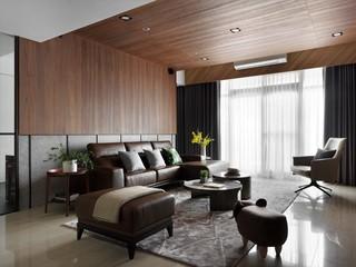 现代简约风格三居客厅吊顶装修效果图