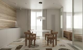 极简风格公寓餐厅装修效果图