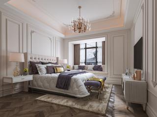 法式风格别墅卧室装修效果图
