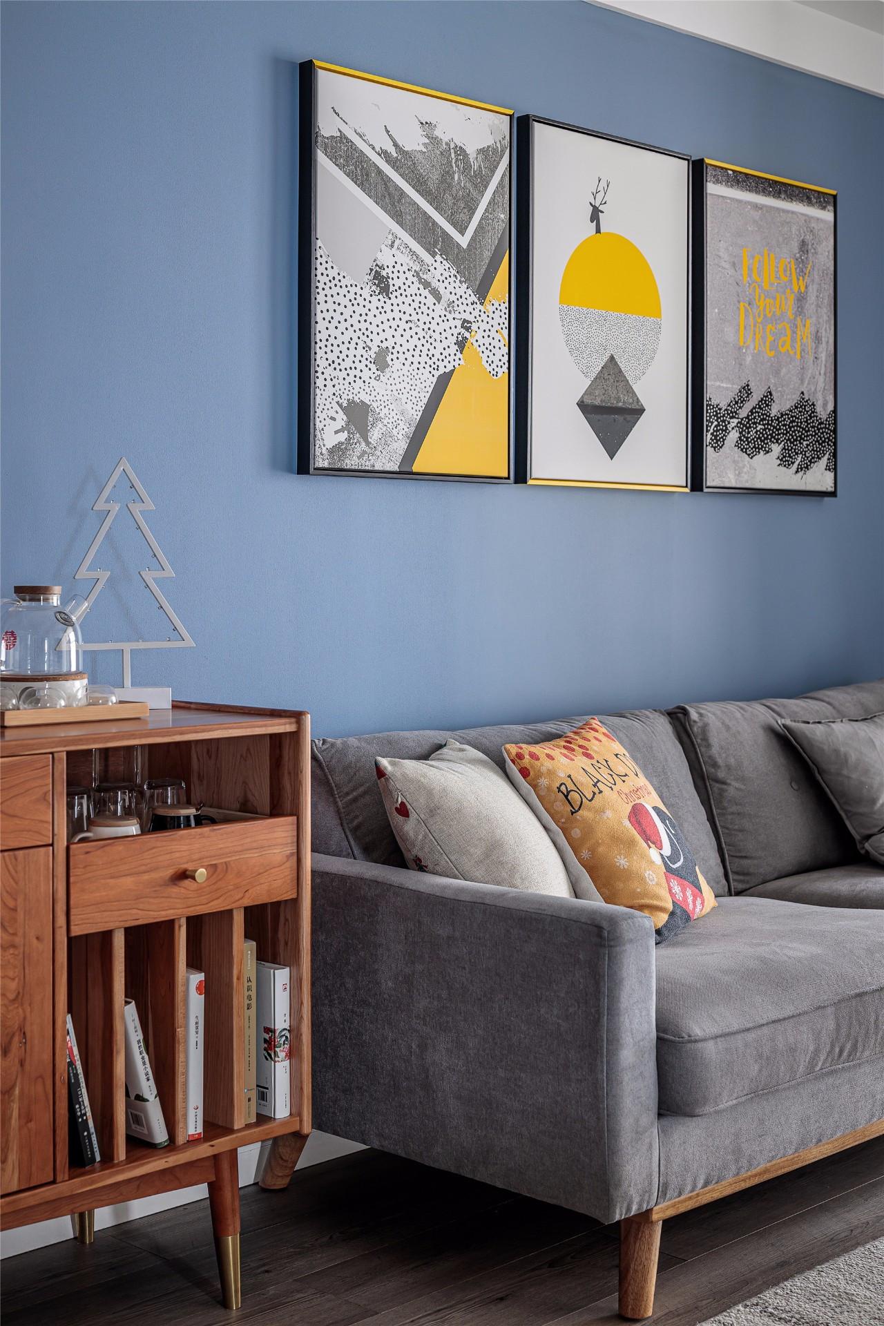 北欧风三居室沙发墙装修效果图