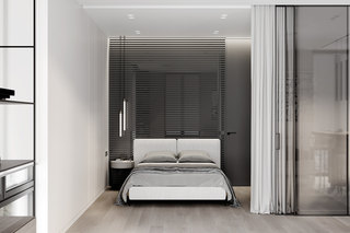 极简风公寓卧室装修效果图