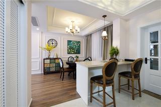 美式风格三居室装修吧台设计图