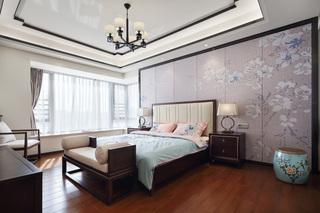 100m²中式风卧室装修效果图