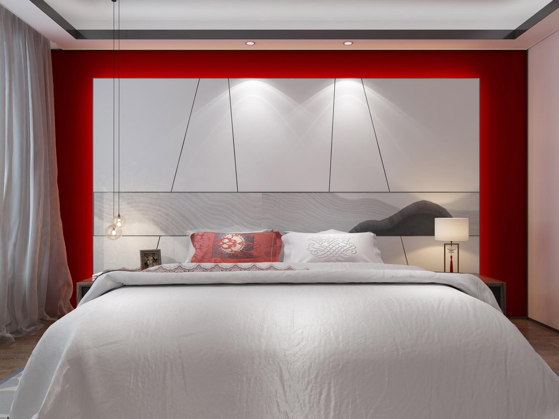110平中式风卧室装修效果图