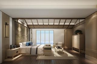中式风格别墅卧室每日首存送20