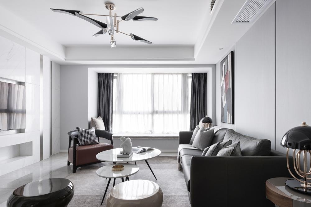 170m²现代简约客厅装修效果图