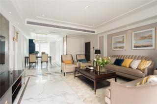147平美式风格客厅装修效果图
