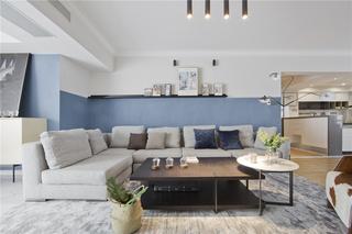 现代北欧风三居沙发墙装修效果图