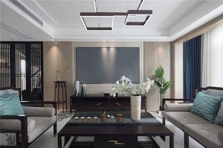 中式风别墅客厅装修效果图