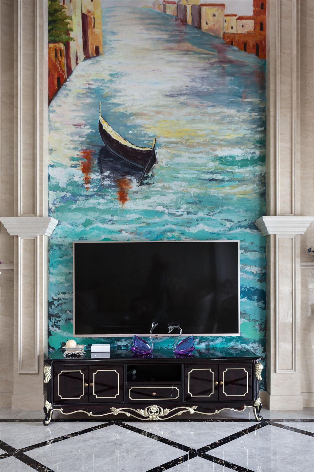 古典欧式别墅电视背景墙装修效果图