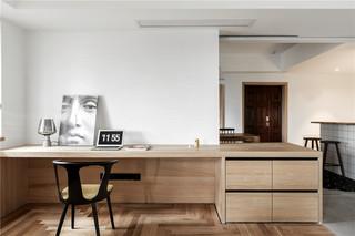 大户型简约风装修书桌设计图