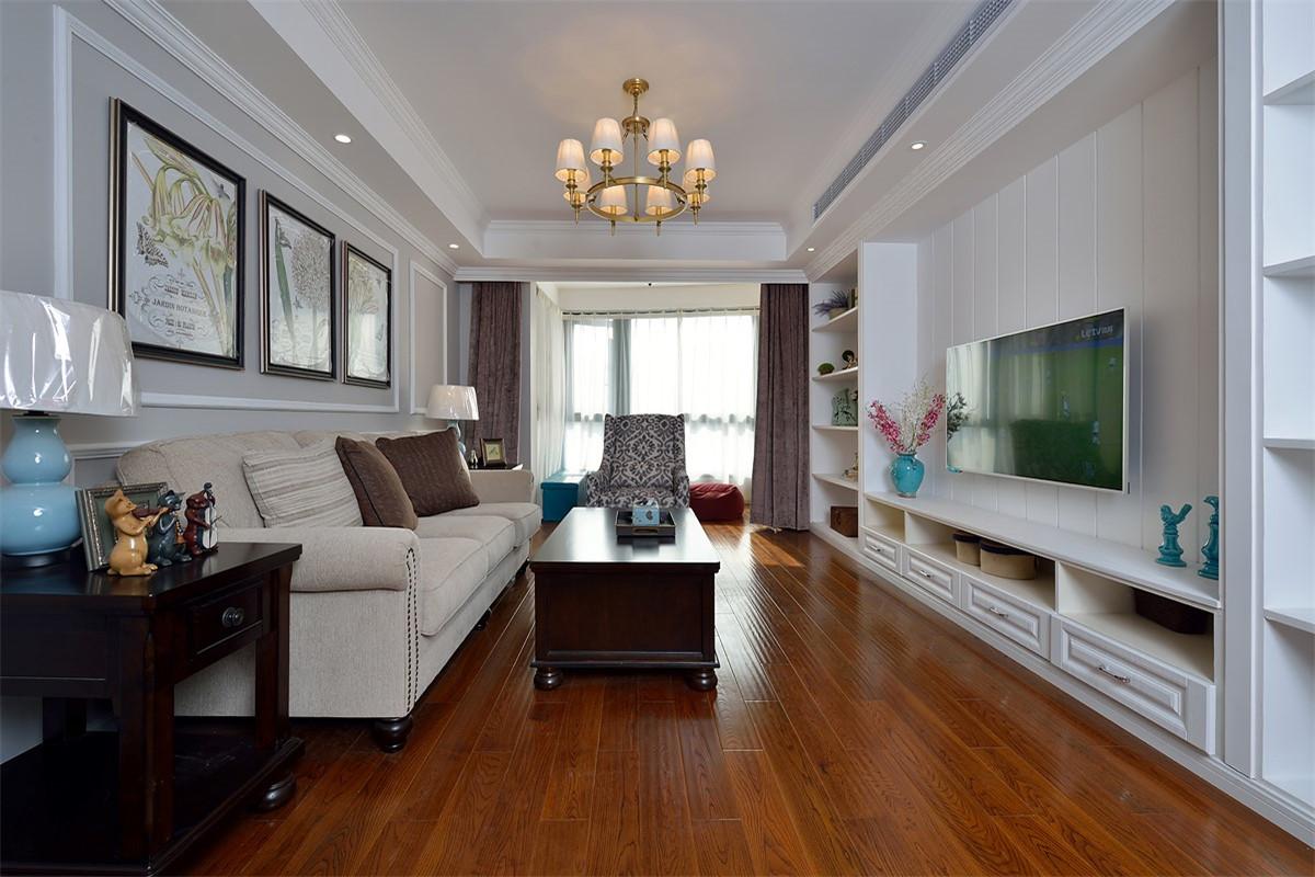 美式风格两居室客厅装修效果图