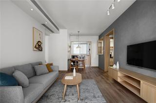 72平日式风格客厅装修效果图
