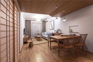 日式风三居室装修效果图