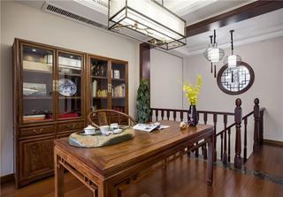 中式風格別墅書房裝修效果圖