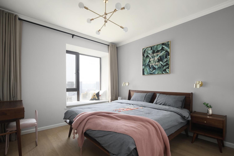 128m²北欧风卧室装修效果图