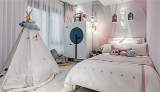 轻奢风三居室儿童房装修效果图