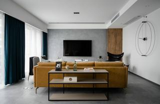 现代轻奢三居室客厅装修效果图