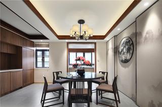现代中式三居餐厅装修效果图