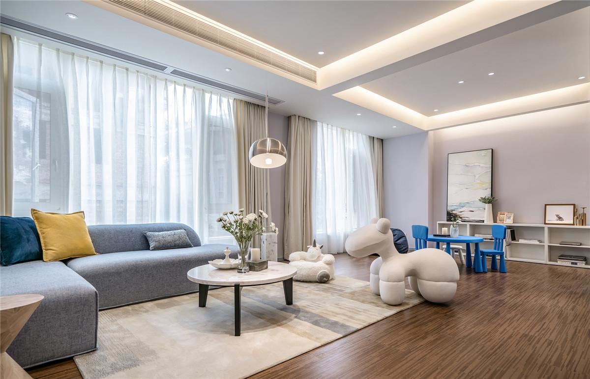 现代轻奢别墅活动室装修效果图