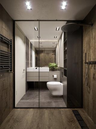 65平米公寓卫生间装修效果图