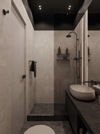 现代极简三居卫生间装修效果图