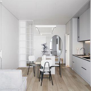 小户型极简公寓餐厅每日首存送20