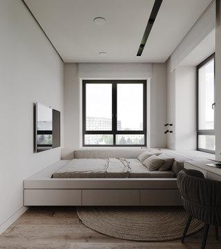 小户型简约公寓卧室每日首存送20