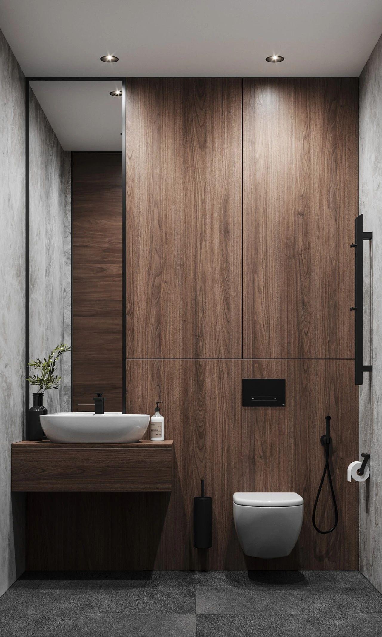 现代时尚公寓卫生间装修效果图