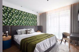 160㎡现代轻奢卧室装修效果图