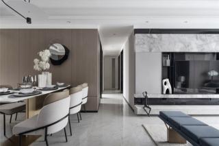 现代轻奢三居室装修效果图