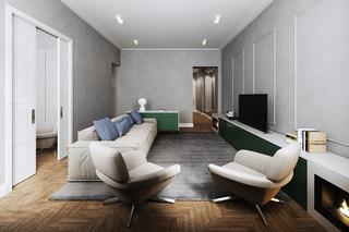 80平高级灰公寓装修效果图