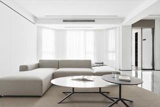 大户型现代极简风客厅装修效果图