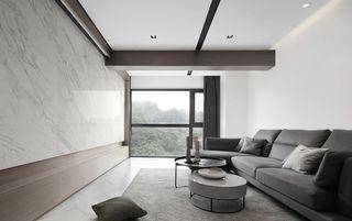 124平现代简约客厅装修效果图